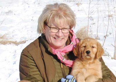 Puppy snow cuddles 2009